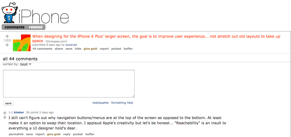 iphone subreddit iphone 6 post